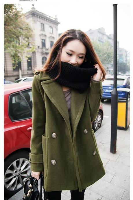 Turn Down Collar Double breasted Winter Coat