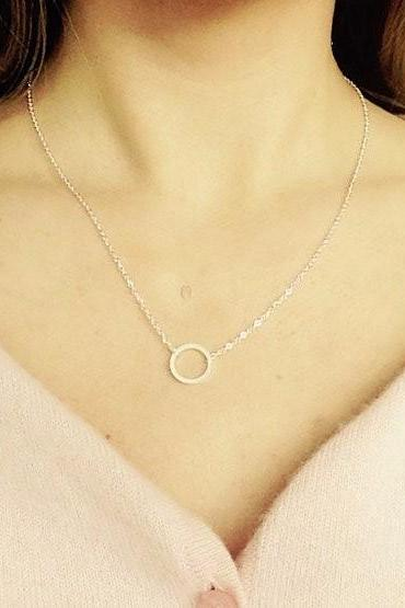 Forever Eternity Necklace in Gold Silver and Rose Gold