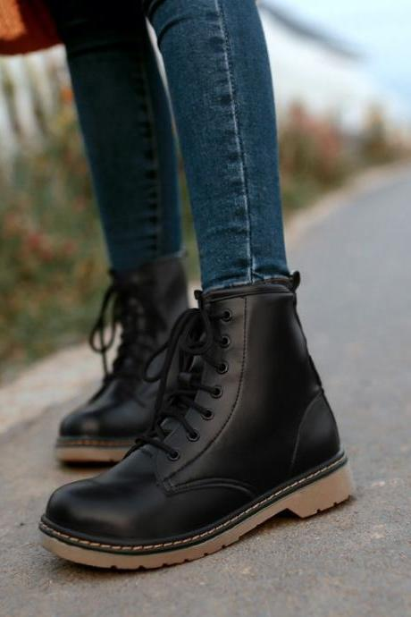 Chic Lace up Ankle Boots