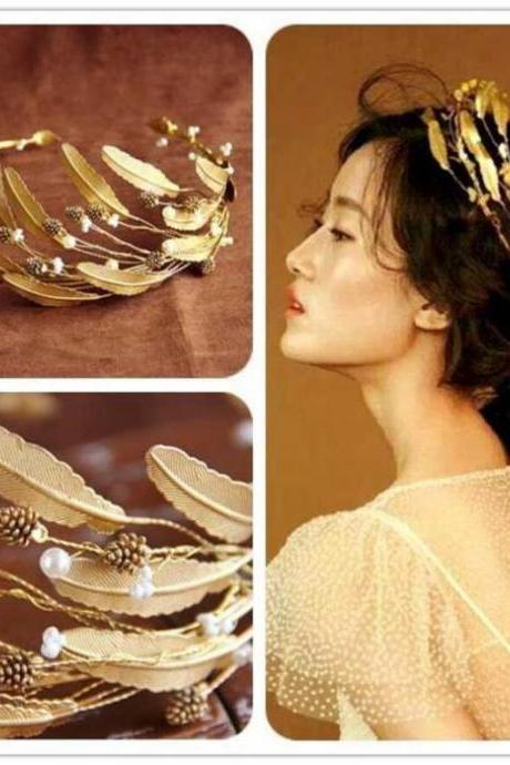 Wedding Hair Accessories For Bride Vintage Baroque Headdress Headband Tiara Crown