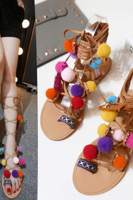 Boho Lace up Summer Fashion Gladiator Sandals