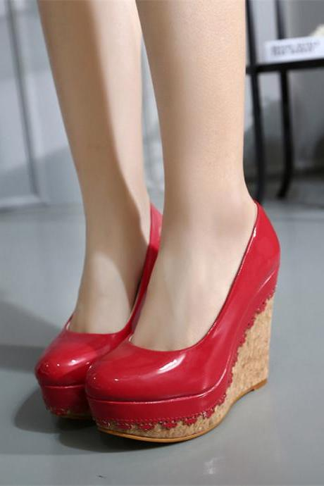 Platform Wedges High Heel Shoes