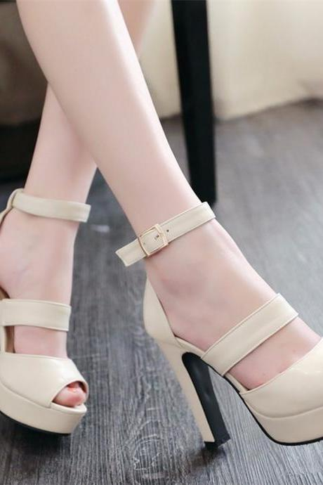 Peep Toe High Heels Party Wedding High heels Fashion Sandals