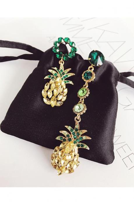 Free Shipping Gorgeous Pineapple Statement Earrings