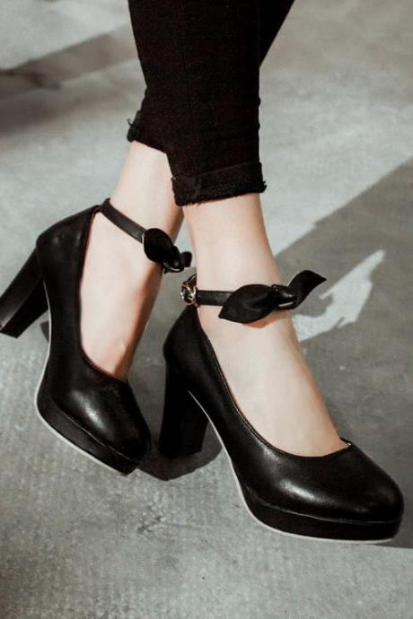 High heels Bow Knot Stylish Fashion Shoes