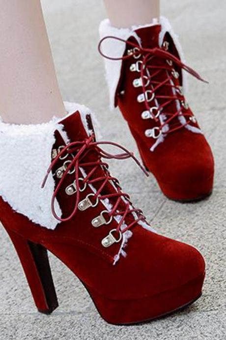 Lace up Warm Winter Platform Boots