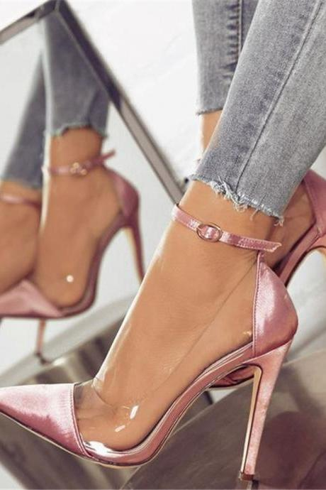 Sexy Pointed Toe Ankle Strap High heels Shoes