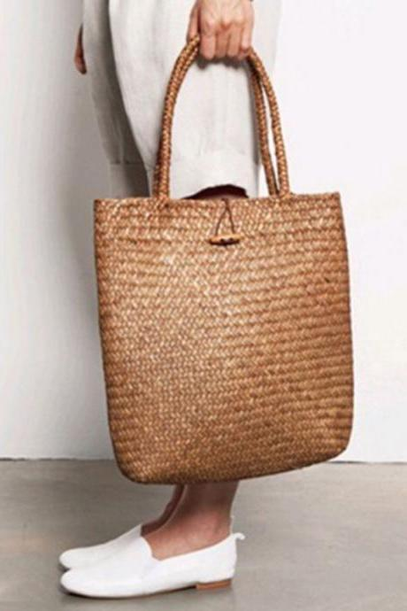 Beautiful Boho Summer Rattan Bag