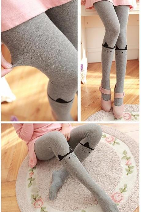 57a8eab9062 Cute Cat Autumn and Winter Leggings Tights
