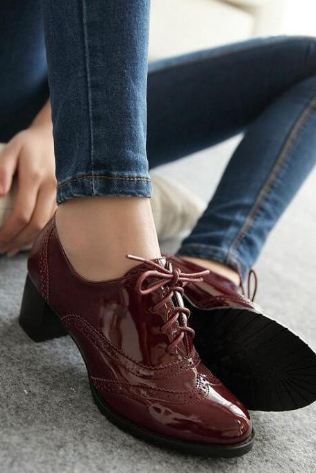 Chic High heels Oxford Shoes in 3 Colors