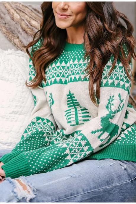 Women Knitted Warm Christmas Sweater