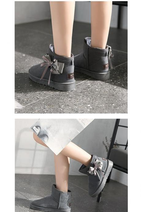 Sweet Bowknot Women Winter Shoes