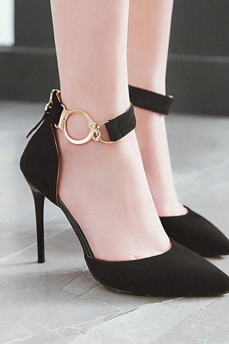 Pointed Toe All Match High Heels Shoes