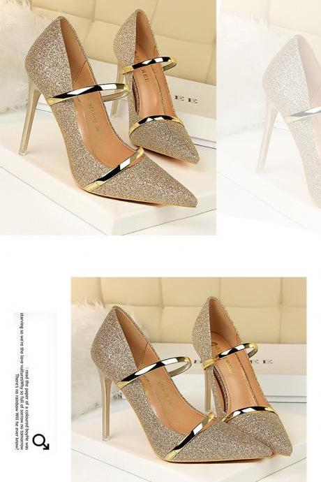 Gorgeous Metallic Pointed Toe Heels