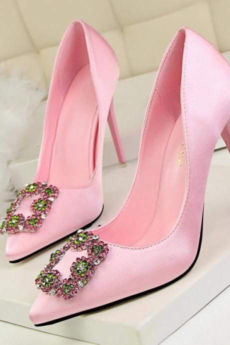 Sexy Rhinestone High Heels Shoes