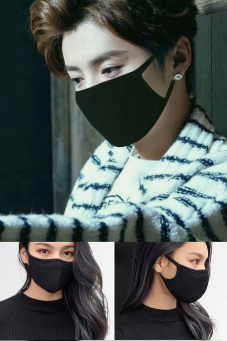 Free Shipping 3 pieces Black and White Face Mask for Men and Women