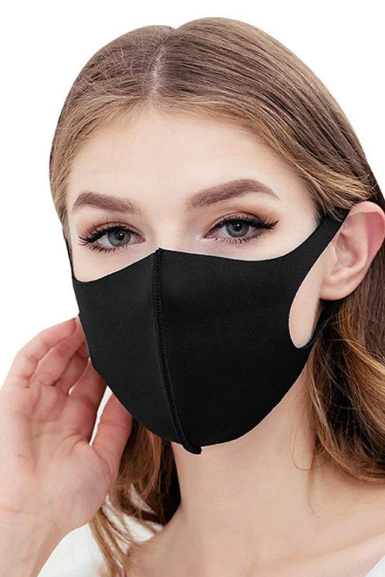 7 Pieces Washable Black Face Mask