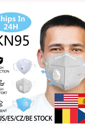 Free Shipping High Quality 20 Pieces KN95 Multi Layer Professional Face Mask