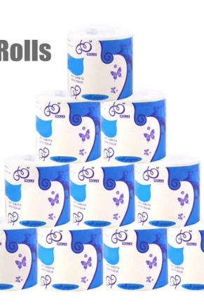 Free Shipping 10 Pieces Individually Pack 3 Ply Tissue Toilet Paper