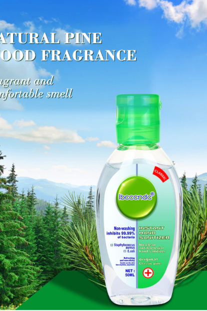 50 ml Portable Antibacterial Hand Sanitizer with Moisturizer