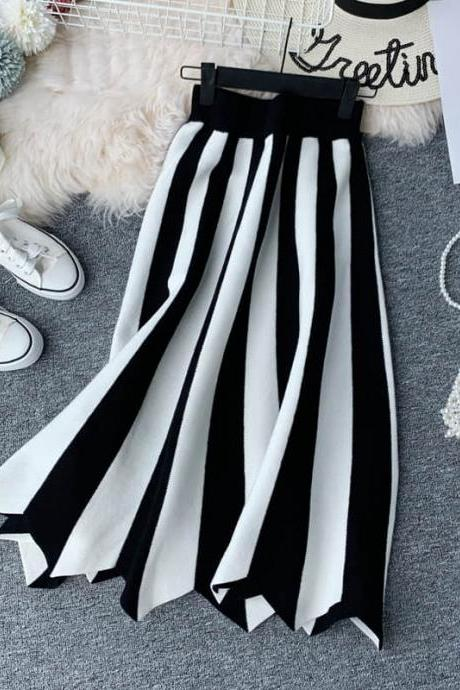 Vintage Style Striped Skirts