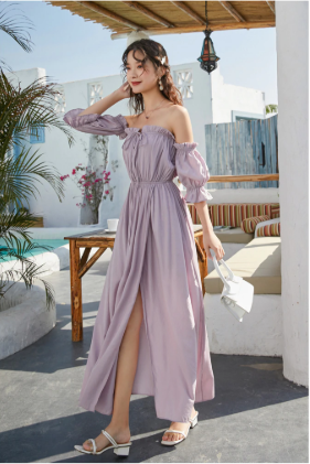 Sexy Bohemian Off Shoulder Long Dress