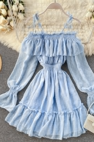 Off Shoulder Sexy Ruffled Dress