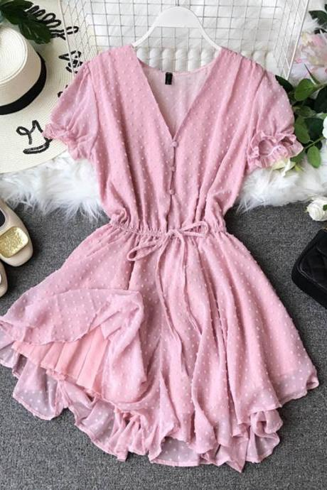 Beautiful V Neck Chiffon Romper