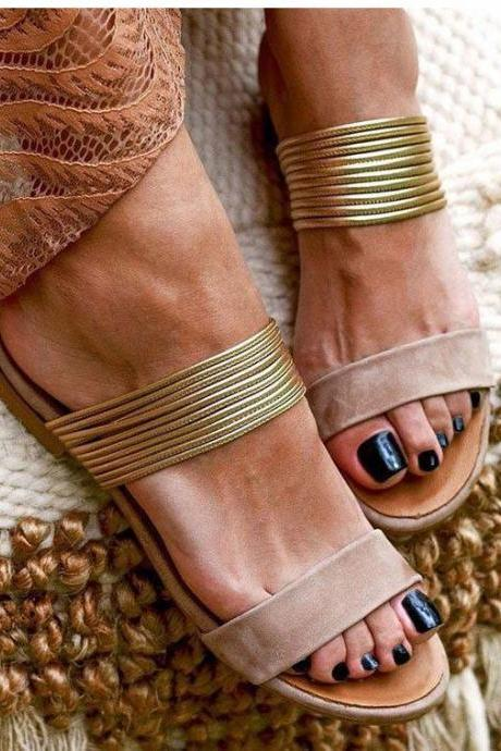 Bohemian Style Women's Slip on Summer Sandals