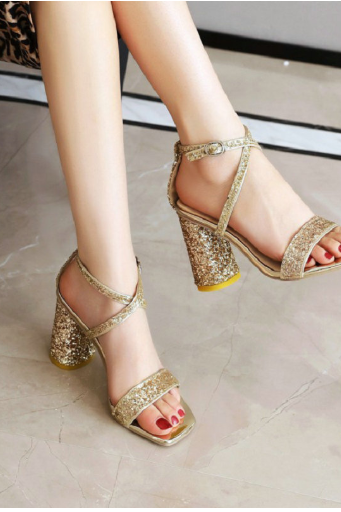 Cross Strap Sexy Glitter High Heels Party Sandals