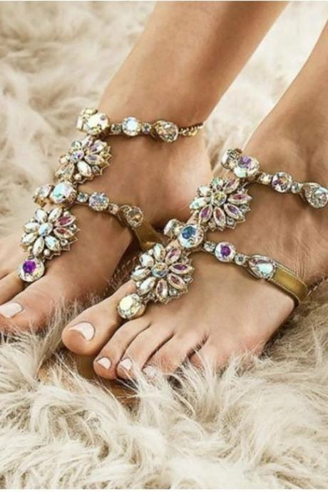 Summer Bohemia Crystal Fashion Sandals