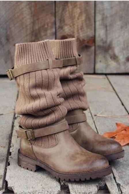 Chic Vintage Style Warm Women's Winter Boots