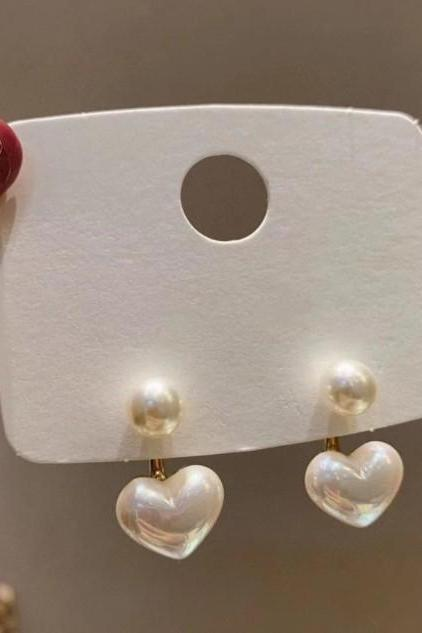 Elegant Heart Pearl earrings