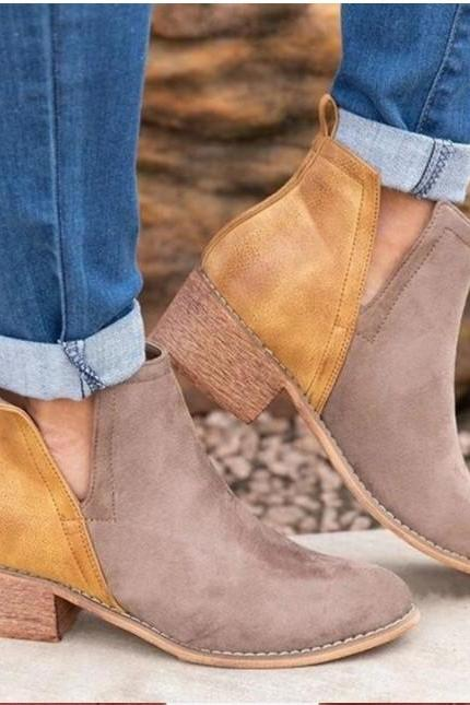 Chic Mid Heel Ankle Boots