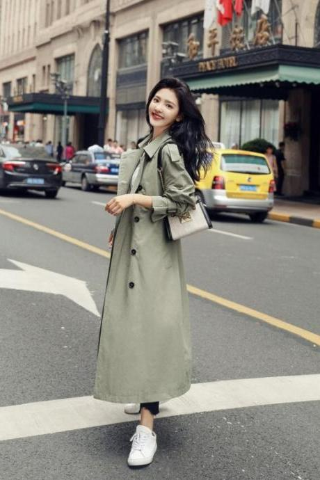 British Style Double Breasted Trench Coat