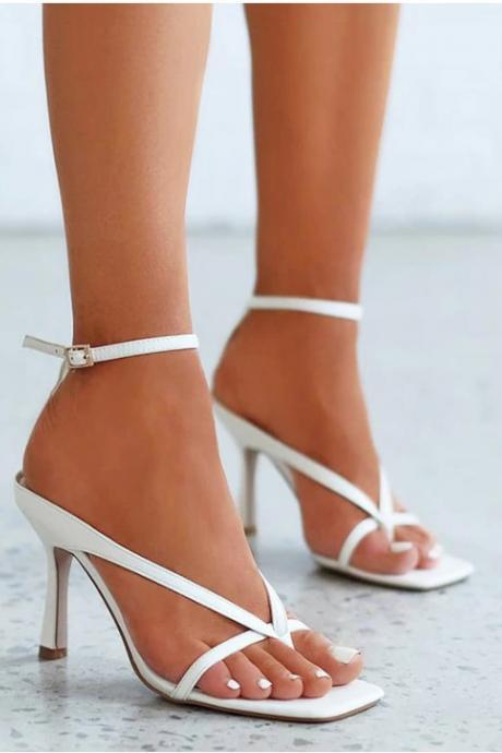 Elegant High Heels Ankle Strap Fashion Sandals