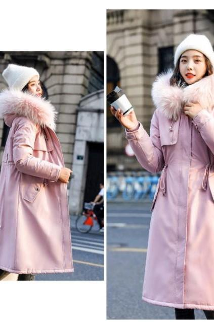 Faux Fur Hooded War Parka Winter Coat