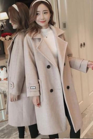 Elegant Women's Winter Woolen Coat