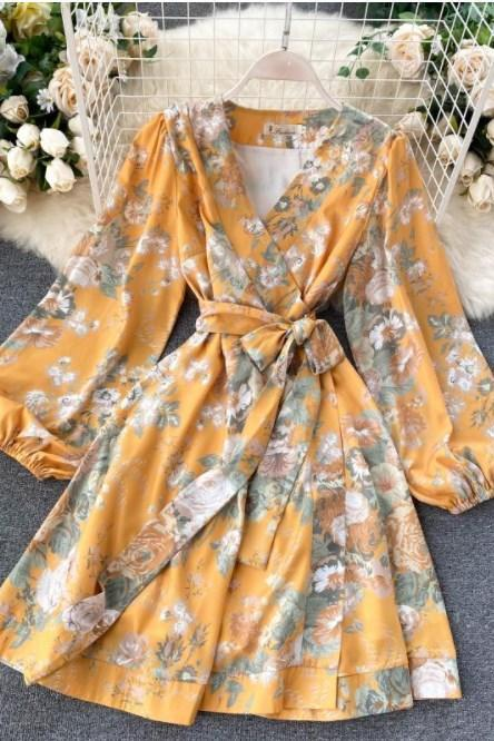 Beautiful Puff Sleeve Floral Boho Dress