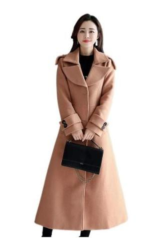 Stylish Autumn and Winter Woolen Coat