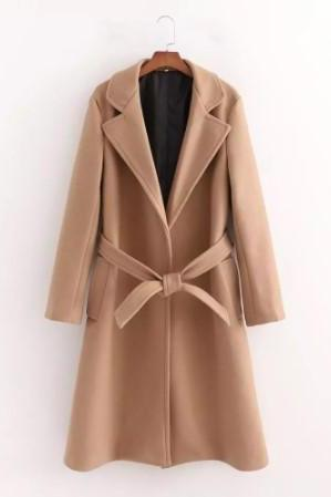 Chic Solid Color Casual Autumn and Winter Trench Coat