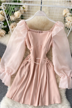 Beautiful Lantern Sleeve Summer Party Dress