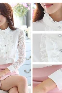 Beautiful Beaded Floral Lace Blouse