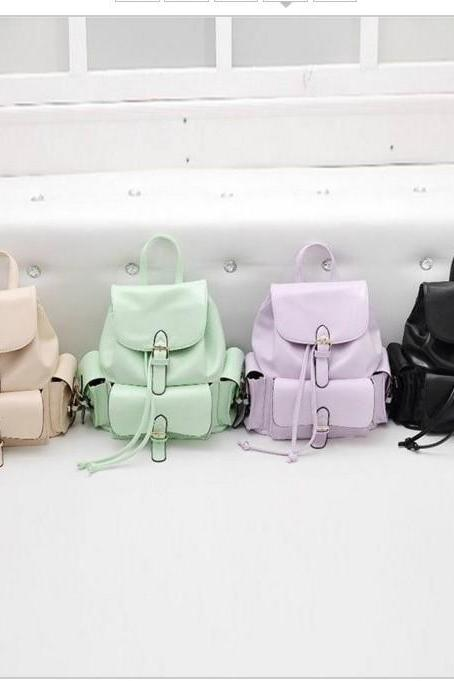 Adorable PU Leather Back Pack in 4 Colors
