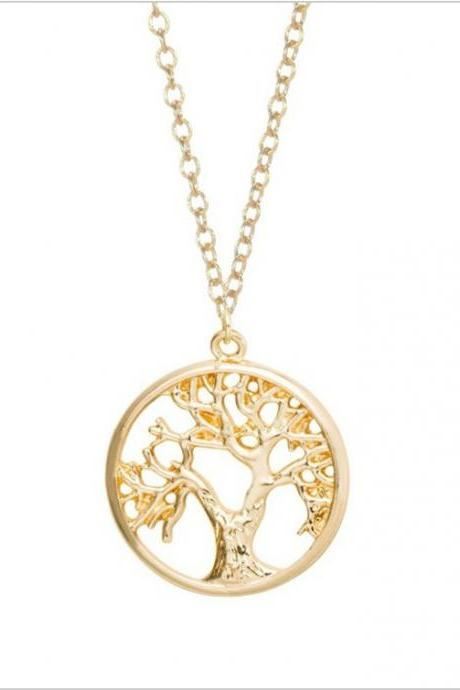 Gold and Silver Plated Tree of Life Necklace