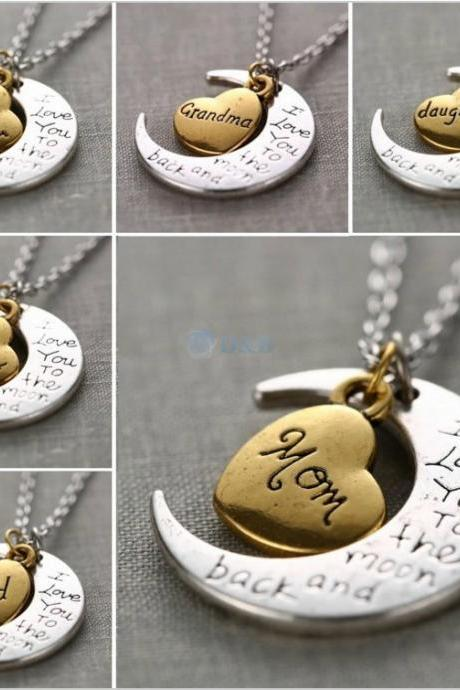 I Love You To The Moon and Back Silver Necklace