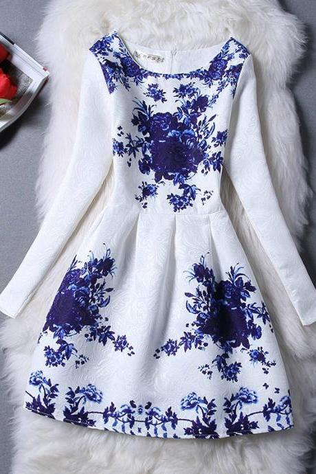 Beautiful Vintage Design Print Dress