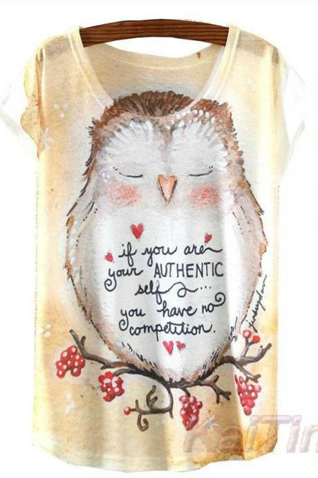 Adorable Owl T shirt