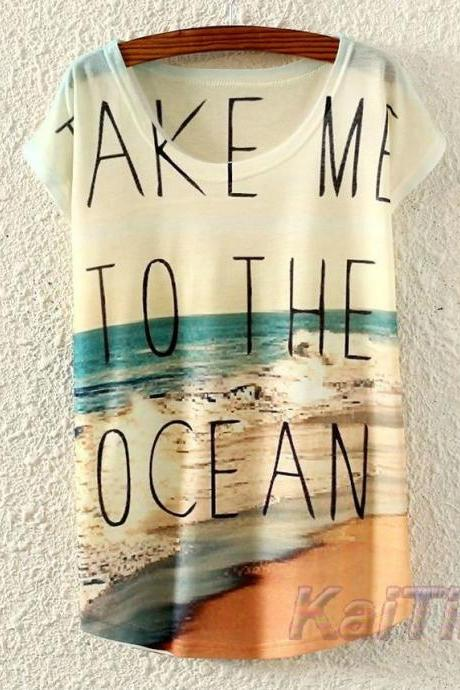 Beach Printed T shirt