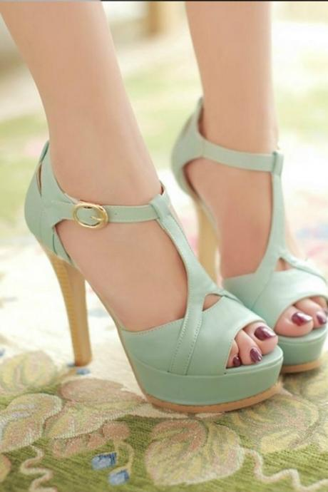 Sexy Peep toe Ankle Strap Sandals